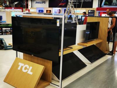TCL островен стелаж Ес Джи Груп ЕООД Оборудване за търговски обекти и складове