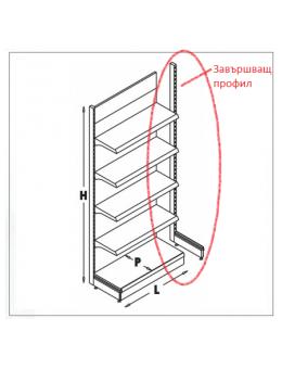 Завършващ Профил за Стелаж Ес Джи Груп ЕООД Оборудване за търговски обекти и складове